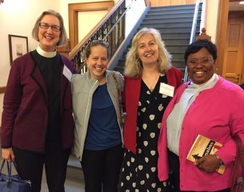 The Rev. S. Rainey Dankel '11, The Rev. Allyson Brundige '11, The Rev. Stephanie Johnson '10, The Rev. Rowena Kemp '13