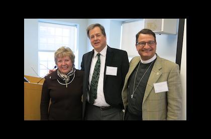 Pamela Gomez, The Very Rev'd Andrew McGowan, Canon Nicholas Porter